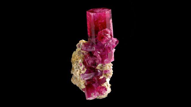 Red Beryl Terminated Crystal Specimen - (Bixbite) Original Photograph by Rob Lavinsky, iRocks.com