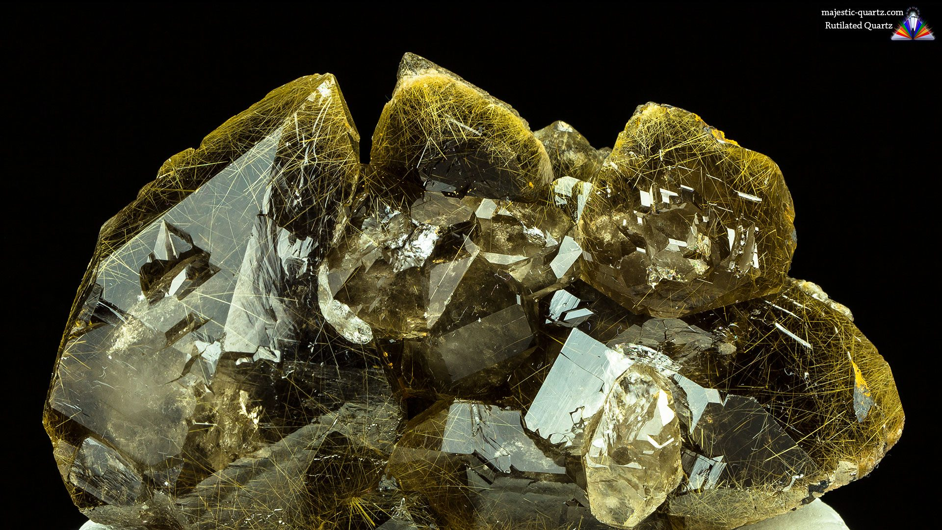 Rutilated Quartz Properties and Meaning - Photograph by Anthony Bradford