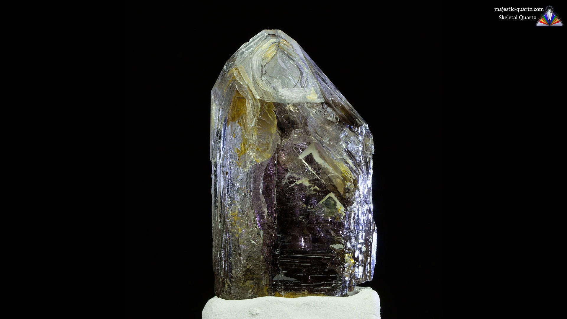 Smoky Amethyst Skeletal Quartz Crystal - Photograph By Anthony Bradford