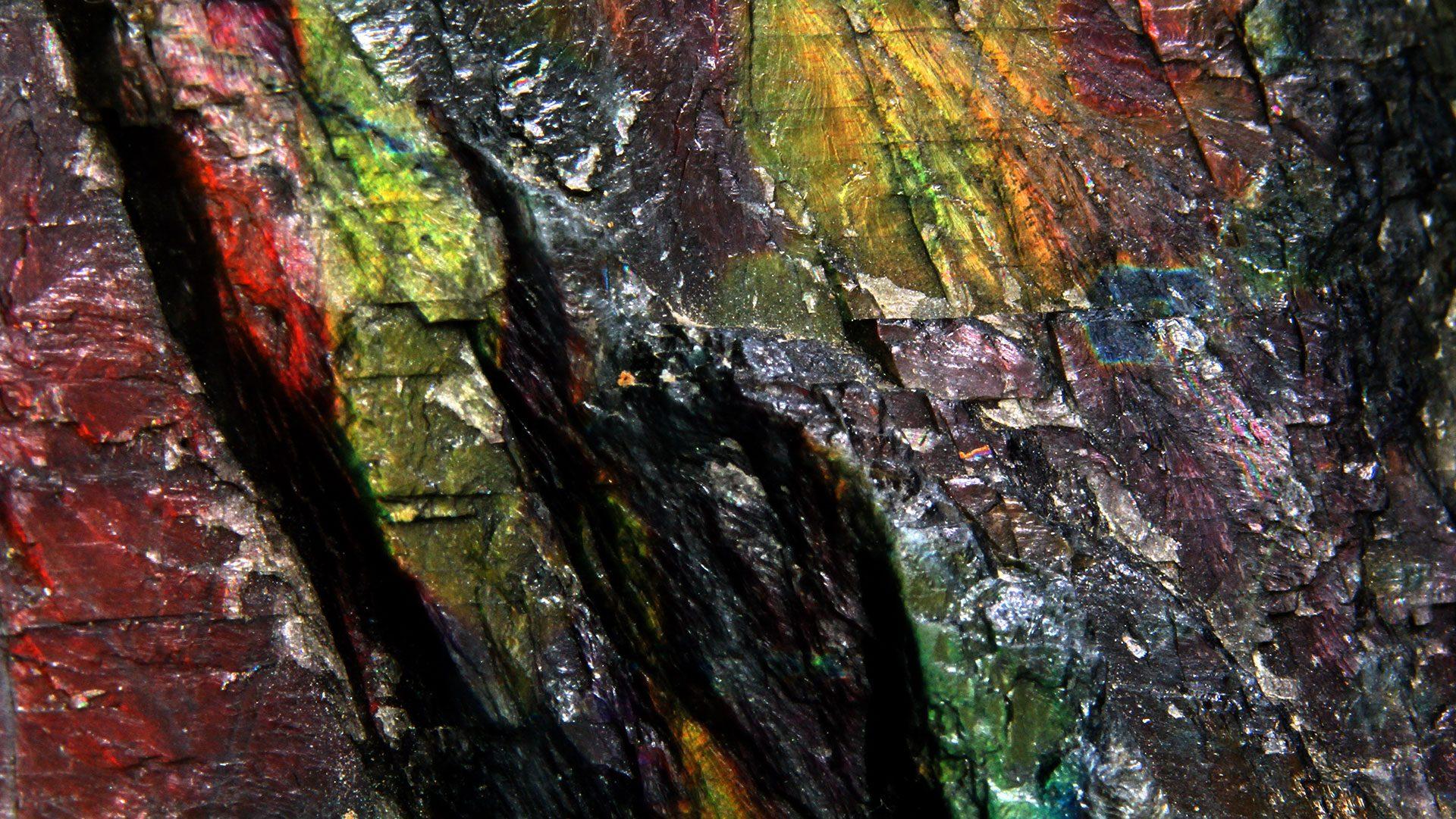 Spectrolite Crystal Specimen - Mineral Specimen - Original Photo by Lech Darski