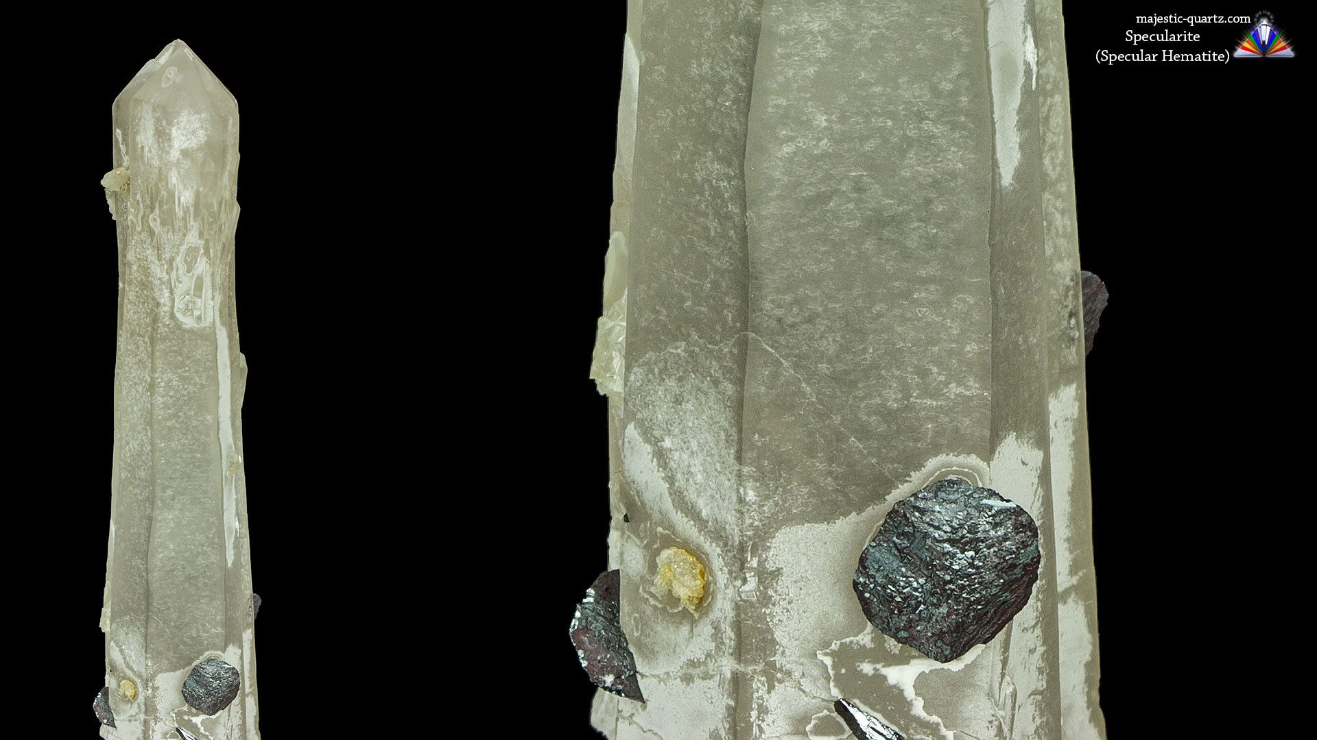 Specularite Included Mongolian Quartz - Photograph by Anthony Bradford