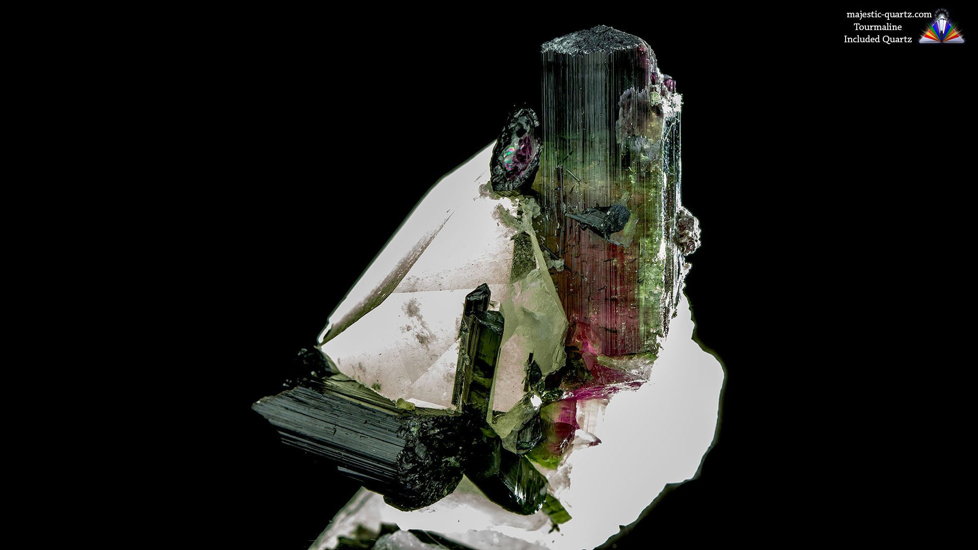 Watermelon Tourmaline Included Quartz Crystal - Photograph by Anthony Bradford